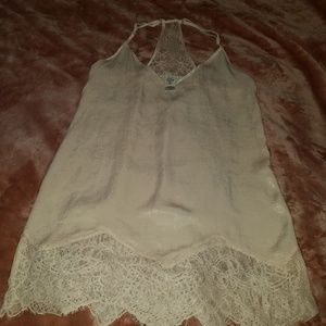 """In Bloom""silk lace sexy nightgown M"